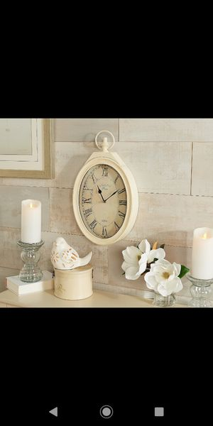 "20"" Roman Numeral Oval Clock by Valerie for Sale in Pompano Beach, FL"