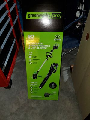 Brand new Greenworks Pro 60 volt string trimmer blower combo for Sale in Welcome, NC