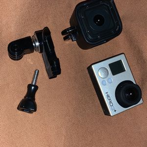 Two GoPro's. GoPro Hero Session And GoPro Hero Plus Silver for Sale in Rustburg, VA