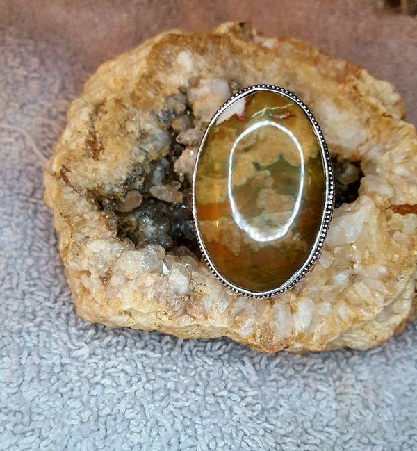 Stunning Ocean Jasper Gemstone Ring