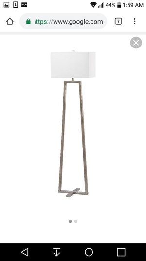 Brand new! Safavieh silver floor lamp with white shade! for Sale in Atlantic Beach, FL