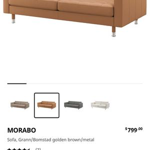IKEA MORABO Leather Sofa for Sale in Los Angeles, CA