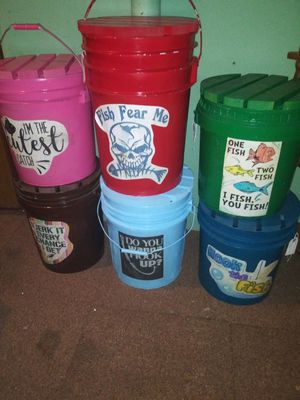 Sit in fish buckets for Sale in Overland, MO