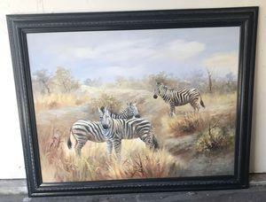 Zebra oil painting for Sale in Torrance, CA