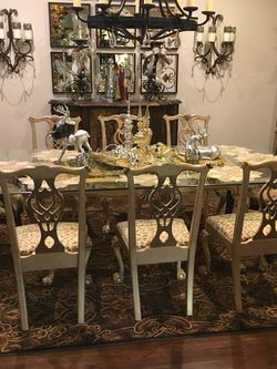 Chippendale Dining Room Set - Table, China Cabinet, & 8 Chairs for Sale in Pearland,  TX