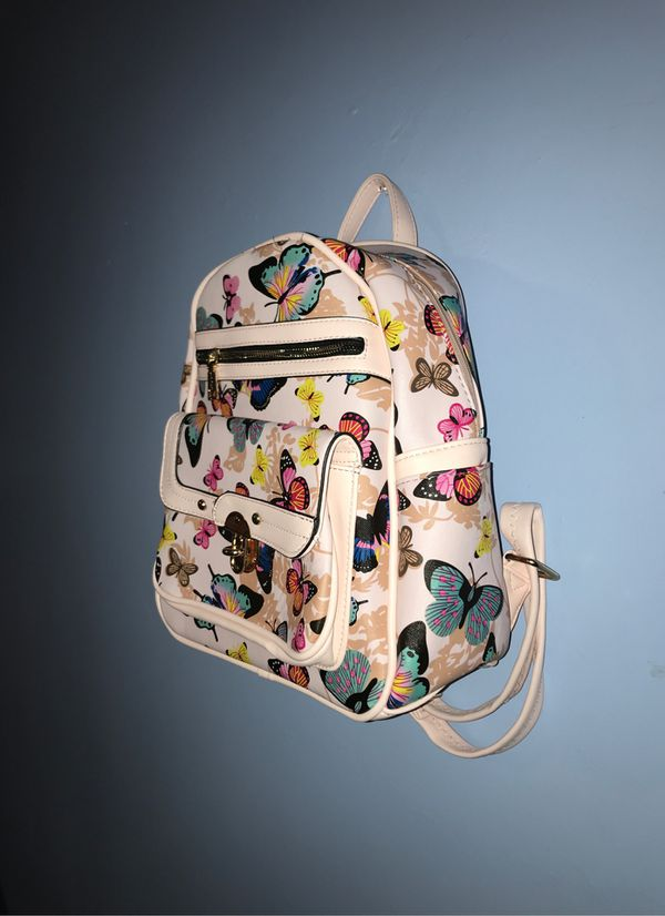 Blush pink butterfly backpack
