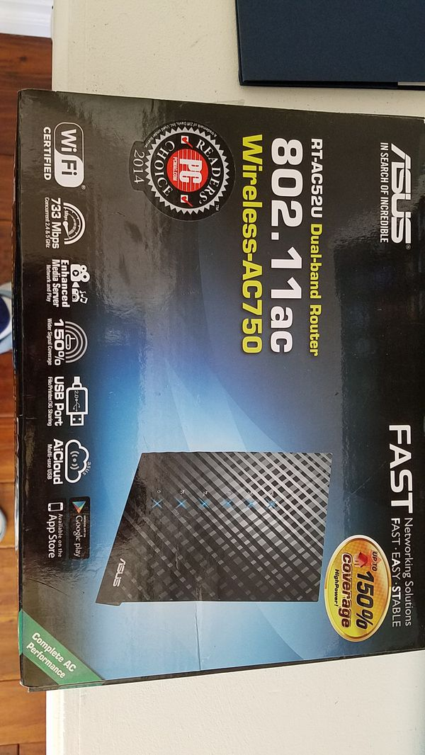 ASUS AC750 DUAL BAND ROUTER