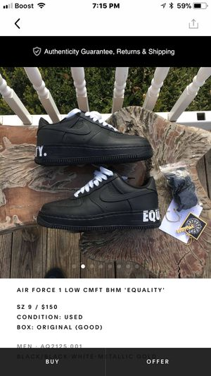 Air Force 1 equality low cmft for Sale in Taylor, MI