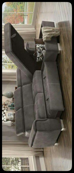 🚩SECTIONAL🚩 Ferriday Taupe Storage Sleeper Sectional for Sale in Mount Rainier, MD