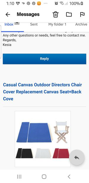 Director chair canvass covers for Sale in Wake Forest, NC