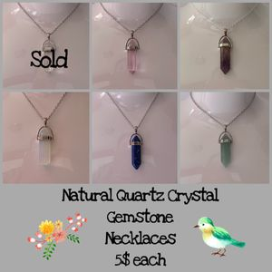 Natural Quartz Crystal Stone Pendant Necklaces for Sale in Victorville, CA