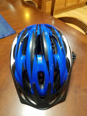 Youth bike helmet blue/black for Sale in Puyallup, WA