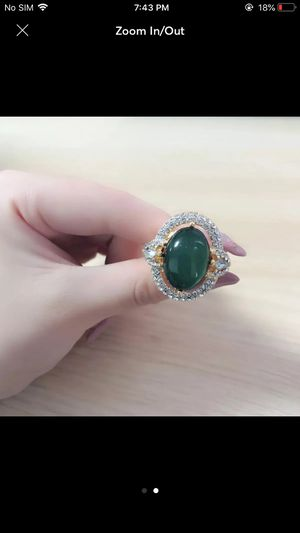 14k gold plated emerald ring for Sale in Silver Spring, MD