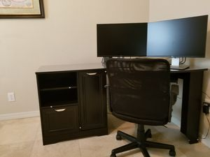 "Realspace, Magellan Corner Desk (30""H x 59 1/2""W x 39""D) color: Espresso. Perfect condition for Sale in Lutz, FL"