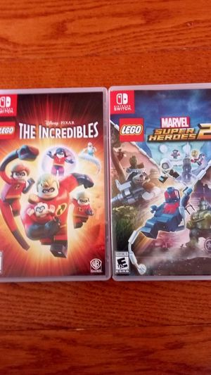 2 Nintendo switch games (Incredibles and Marvel Superheroes 2) also not firm on price for Sale in Fairfax, VA