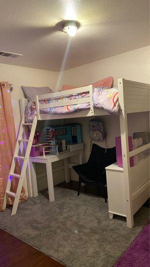 Twin Loft Bunk Bed for Sale in Bakersfield, CA