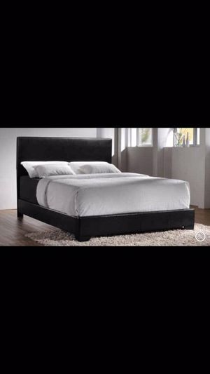 Queen bed frame with mattress and box spring 260$ only ready for delivery for Sale in Elmwood Park, IL