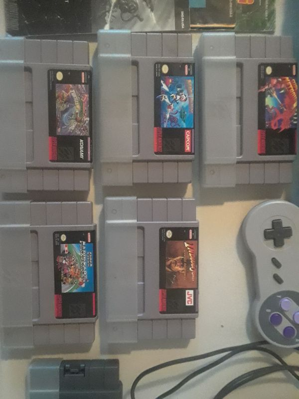 One Owner Super Nintendo SNES Complete Setup with Cords, Games, and TV