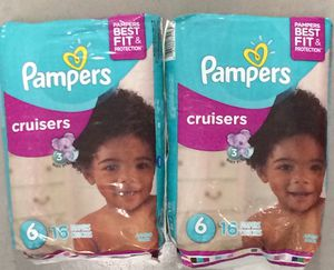 Pampers Cruisers Diapers Sz 6, 16ct (Pack of 2) for Sale in Atlanta, GA