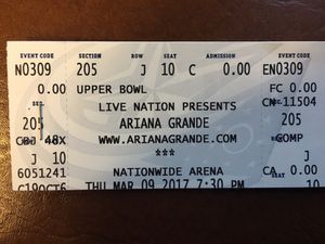 """Pop Star """"Ariana Grande"""" tickets $40 for Sale in Columbus, OH"""