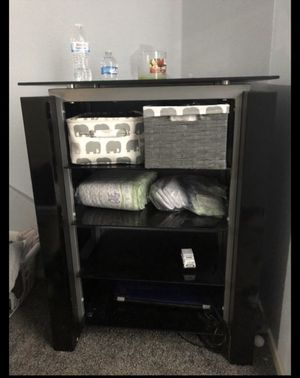Metal and Black Glass shelves for Sale in Houston, TX