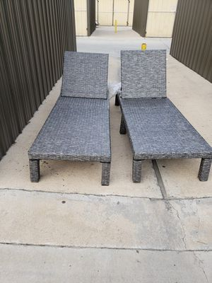 Pair of pool Launge chairs wicker for Sale in Fresno, CA