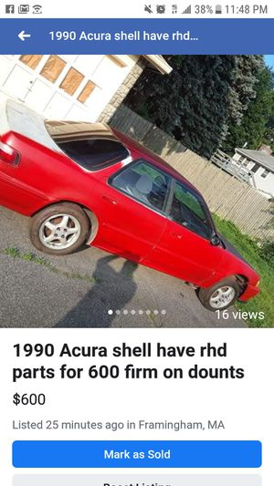 1990 Acura shell have rhd parts for it for Sale in Ashland, MA