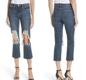 NWT $255 L'Agence Jordan Ripped Bootcut Crop Jeans 28 for Sale in Norcross, GA