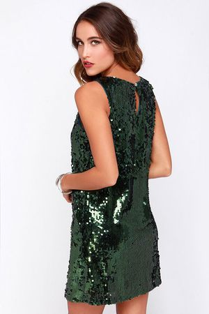 Honey punch green sequin cocktail holiday sparkly mini dress for Sale in San Diego, CA
