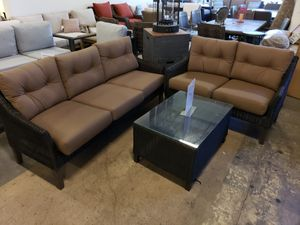 New 3pc outdoor patio furniture set sunbrella fabric tax included for Sale in Hayward, CA