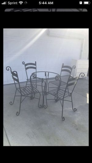 Beautiful black iron table set for Sale in Montclair, CA