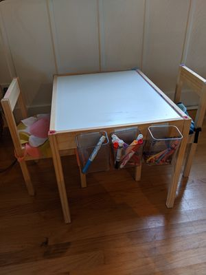 IKEA kids LATT table and chairs for Sale in Woodway, WA