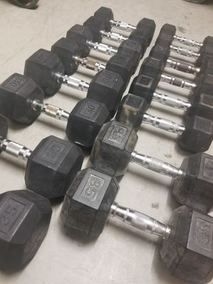 Rubber Dumbbells Set for Sale in Mansfield, TX
