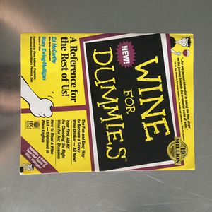 Wine For Dummies Book for Sale in Chicago, IL