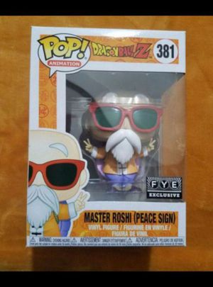 FUNKO POP ANIMATION DRAGONBALL Z MASTER ROSHI PEACE SIGN FYE EXCLUSIVE for Sale in Moreno Valley, CA