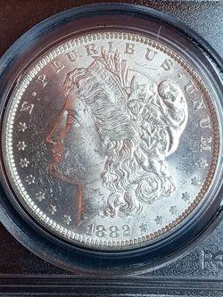 1882-O MORGAN SILVER DOLLAR *MS63 *GRADED! *Super BRILLIANT *US SILVER COIN for Sale in El Segundo,  CA