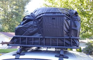 """Waterproof rooftop cargo carrier and basket with adjustable 43"""" Cross Bars for Sale in Fort Smith, AR"""