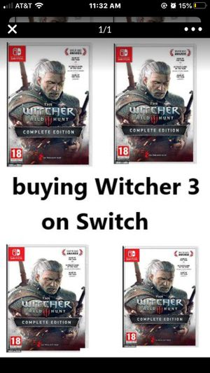 Buying Witcher 3 Nintendo switch for Sale in Chino Hills, CA