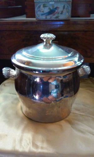 Antique Silverplated Ice Bucket Glass Insert for Sale in San Bruno, CA