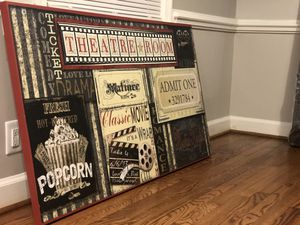 Theatre Room canvas for Sale in Greensboro, NC