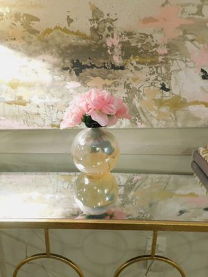 Pink Glass Flower Floral Arrangement Pretty Girly Home Decor for Sale in Charlotte, NC