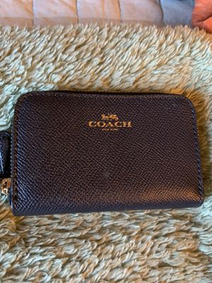 Navy blue coach credit card holder for Sale in Orient, OH