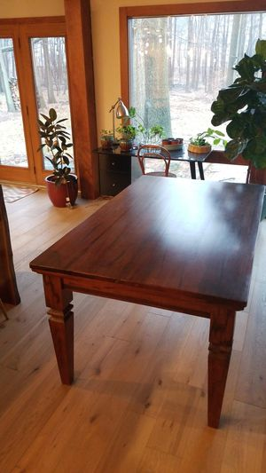 "Solid wood dining table 62"" x 48"" for Sale in Westlake, OH"