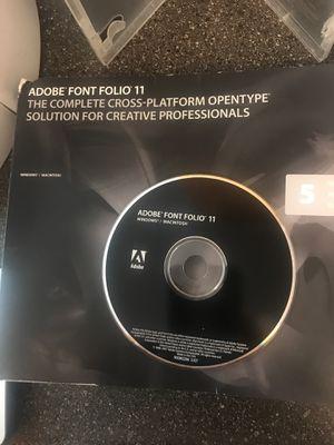 Adobe Font Folio 11 for Sale in Scottsdale, AZ