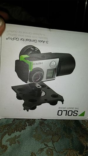 SOLO the smart drone 3 axis Gimbal for go pro for Sale in Los Angeles, CA
