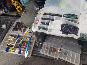 Fishing tackle with box for Sale in Orlando, FL