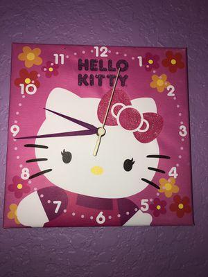 Hello kitty clock for Sale in Miami, FL
