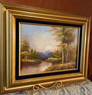 Original vintage signed oil painting Landscape L23/15xH19/11 inch Lbs 4 for Sale in Chandler, AZ