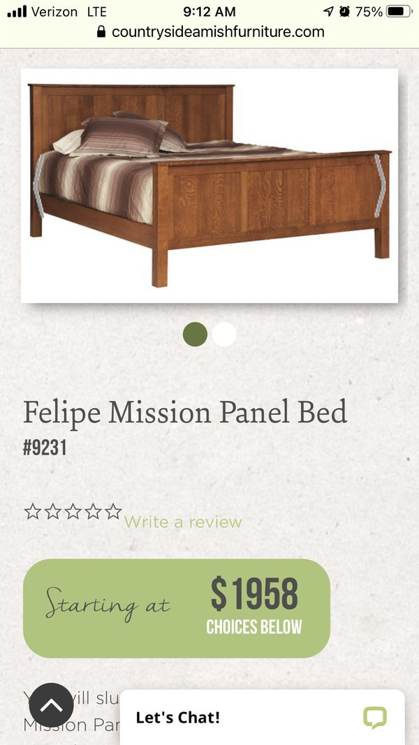Queen Size Mission Bed frame
