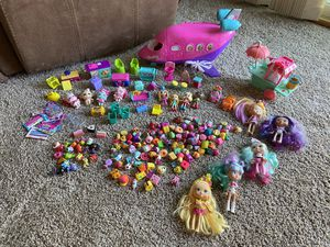 Lot of a Shopkins, Shopees and other mini toys for Sale in Thousand Oaks, CA